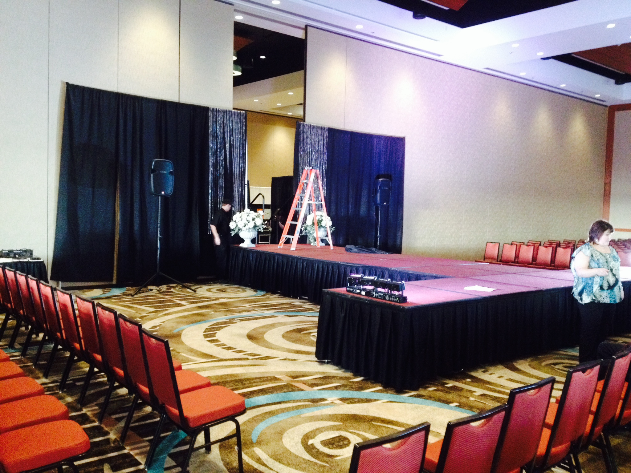 Stage Setup for Bridal Fashion Show