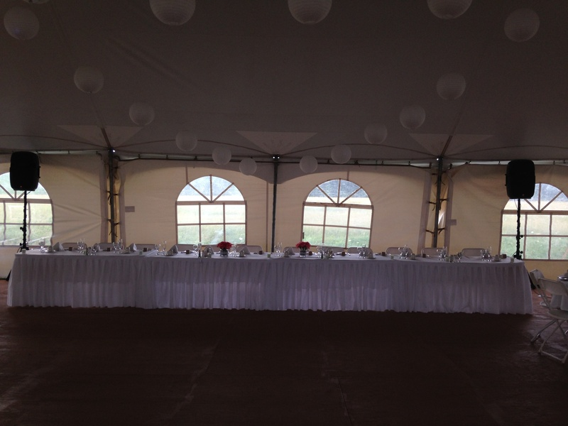Head Table Tent P.A. System